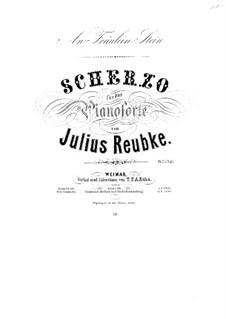 Scherzo in D Minor, Op.3: Para Piano by Julius Reubke
