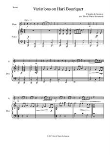 Variations on Hari Bouriquet: para flauta e piano by Claudin de Sermisy