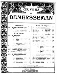 Concert Solo for Flute and Piano No.1, Op.19: Score by Jules Demersseman