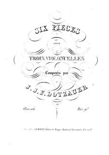 Six Pieces for Three Cellos, Op.104: violoncelo parte I by Friedrich Dotzauer