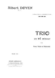 Piano Trio in D Minor, Op.15: Partitura completa by Albert Doyen