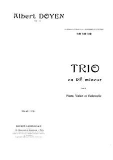 Piano Trio in D Minor, Op.15: parte violoncelo by Albert Doyen