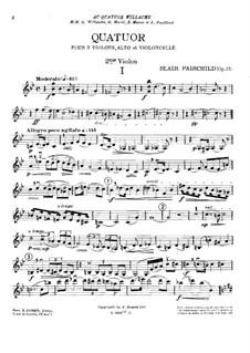String Quartet in G Minor, Op.27: violino parte II by Blair Fairchild