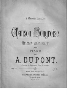 Chanson Hongroise, Op.27: Chanson Hongroise by Auguste Dupont