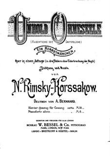 Kashchey the Deathless: Partitura Piano-vocal by Nikolai Rimsky-Korsakov