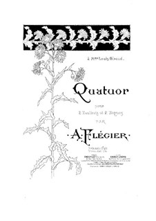 Quartet for Two Oboes and Two Bassoons: Quartet for Two Oboes and Two Bassoons by Ange Flégier