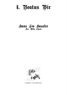 Cantiones Sacrae: No.04 Beatus vir, for brass quartet by Hans Leo Hassler