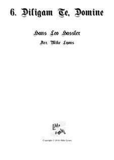 Cantiones Sacrae: No.06 Diligam Te Domine, for brass quartet by Hans Leo Hassler