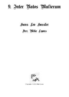 Cantiones Sacrae: No.09 Inter natos mulierum, for brass quartet by Hans Leo Hassler
