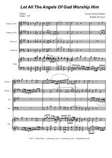 No.35 Let All the Angels Of God: para quarteto de bronze by Georg Friedrich Händel