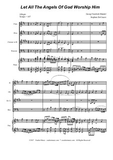 No.35 Let All the Angels Of God: Para quarteto de sopro by Georg Friedrich Händel