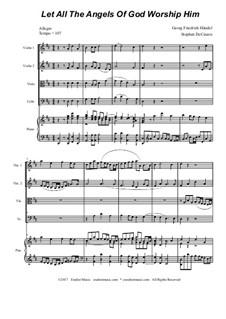 No.35 Let All the Angels Of God: para quartetos de cordas by Georg Friedrich Händel