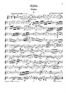 Piano Trio No.3 in B Flat Major, Op.121: parte do violino by Josef Gabriel Rheinberger
