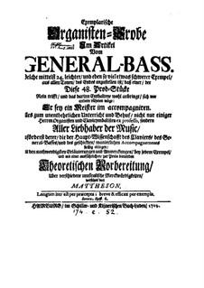 Exemplarische Organisten-Probe: Exemplarische Organisten-Probe by Johann Mattheson