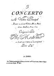 Violin Concerto No.3 in B Flat Major: Violin Concerto No.3 in B Flat Major by Niccolò Mestrino