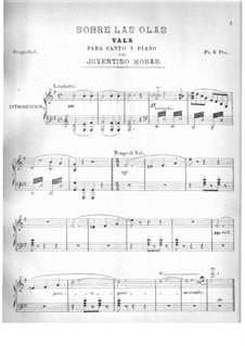 Sobre las olas (Over the Waves): Para vocais e piano by Juventino Rosas