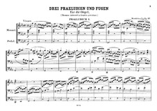Three Preludes and Fugues, Op.37: No 1 em C menor by Felix Mendelssohn-Bartholdy