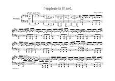 Symphony No.8 in B Minor 'Unfinished', D.759: arranjos para piano de quatro mãos by Franz Schubert