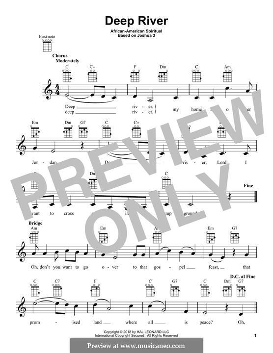 Deep River: para ukulele by folklore