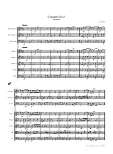 Concerto No.5 in D Major 'Saeculum': para orquetra de cordas by Georg Muffat
