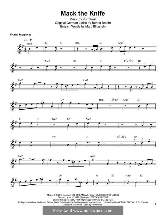 Mack the Knife: Para guitarra com guia by Kurt Weill