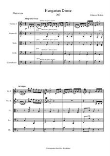 Dance No.7 in F Major: para orquetra de cordas by Johannes Brahms
