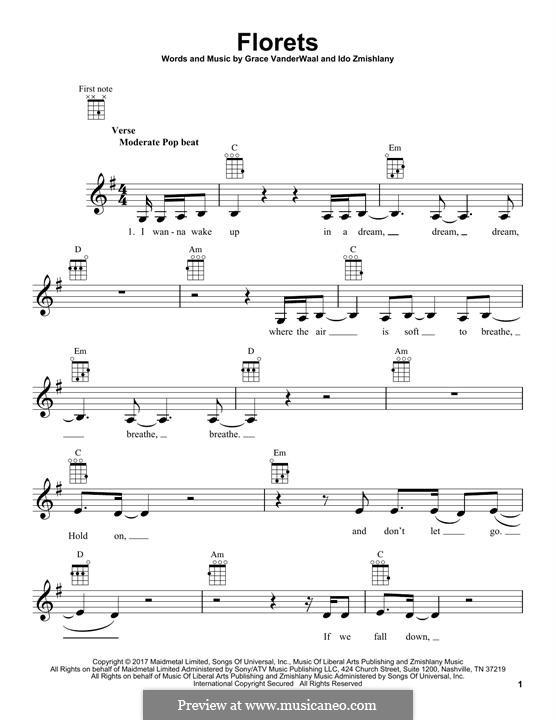 Florets: para ukulele by Ido Zmishlany, Grace VanderWaal