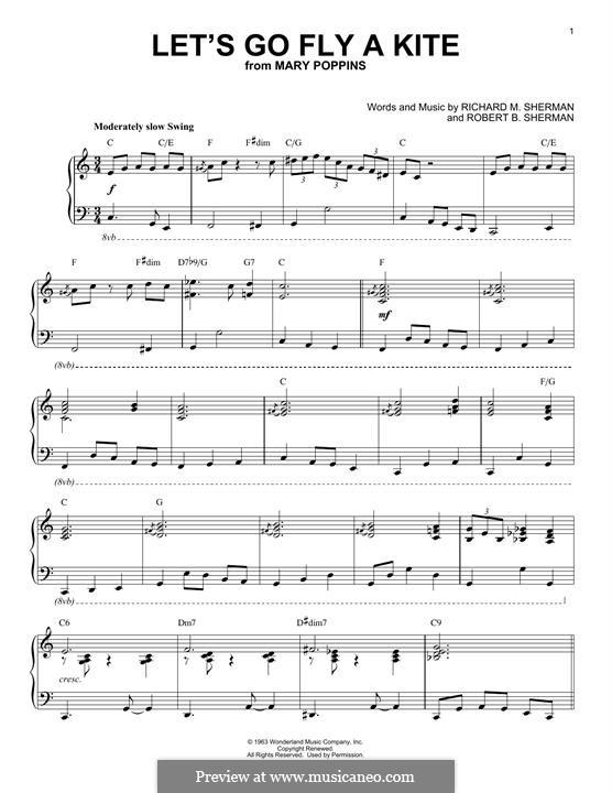 Let's Go Fly a Kite: Para Piano by Richard M. Sherman, Robert B. Sherman