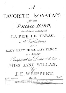 Sonata for the Pedal Harp, Op.18: Sonata for the Pedal Harp by John Erhardt Weipert