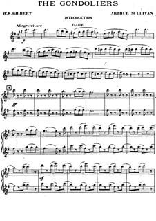 The Gondoliers: parte flauta by Arthur Seymour Sullivan