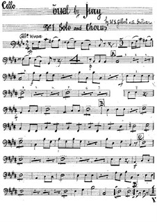 Trial by Jury: parte violoncelo by Arthur Seymour Sullivan