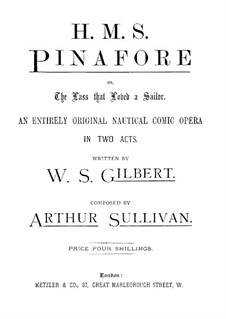 Complete Opera: Partitura Piano-vocal by Arthur Seymour Sullivan