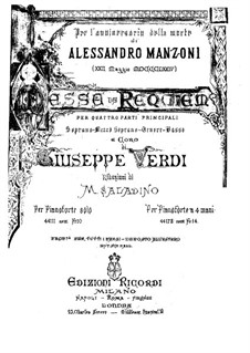 Messa da Requiem: Para Piano by Giuseppe Verdi