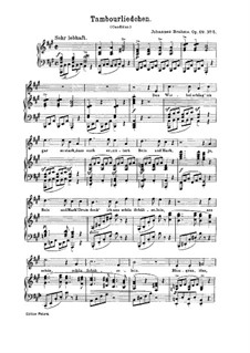 Nine Songs and Ballads, Op.69: No.5 Tambourliedchen (Little Song of the Drummer) by Johannes Brahms