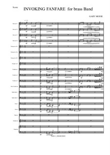 Invoking Fanfare for Brass Band: Invoking Fanfare for Brass Band by Gary Mosse