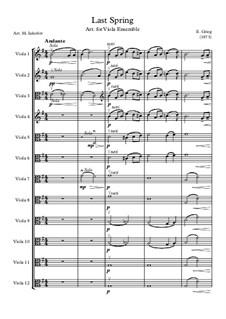 Two Elegiac Melodies, Op.34: No.2 Våren (The Last Spring), for viola ensemble by Edvard Grieg