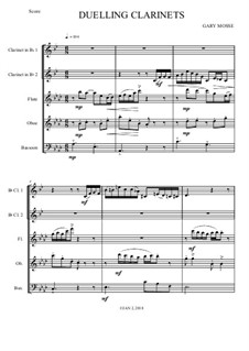 Duelling Clarinets – Quintet: Duelling Clarinets – Quintet by Gary Mosse