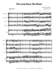 No.37 The Lord Gave the Word: para quarteto de bronze by Georg Friedrich Händel