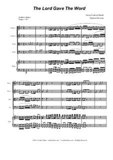 No.37 The Lord Gave the Word: para quartetos de cordas by Georg Friedrich Händel
