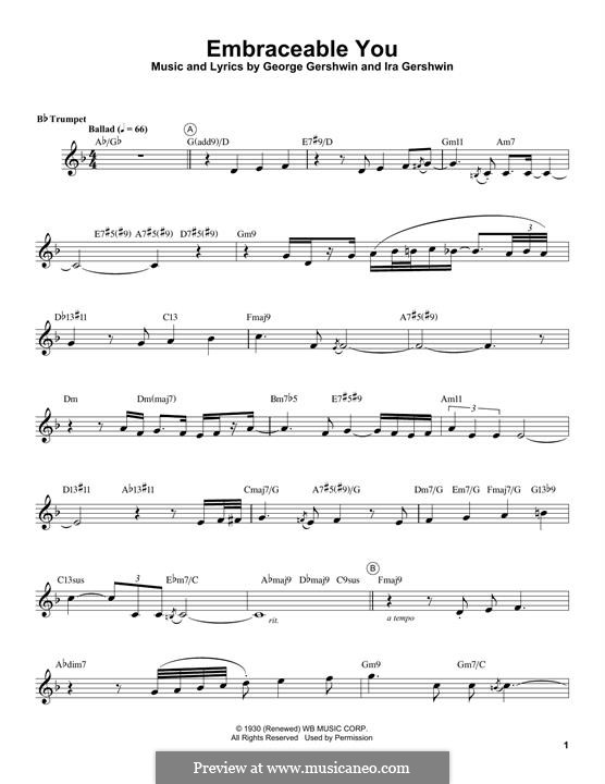 Embraceable You: For trumpet (Chris Botti) by George Gershwin