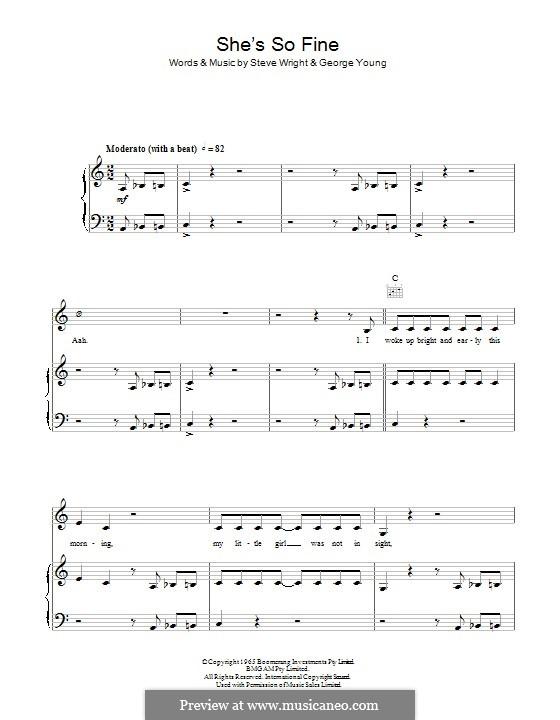 She's So Fine (The Easybeats): Para vocais e piano (ou Guitarra) by George Young, Steve Wright