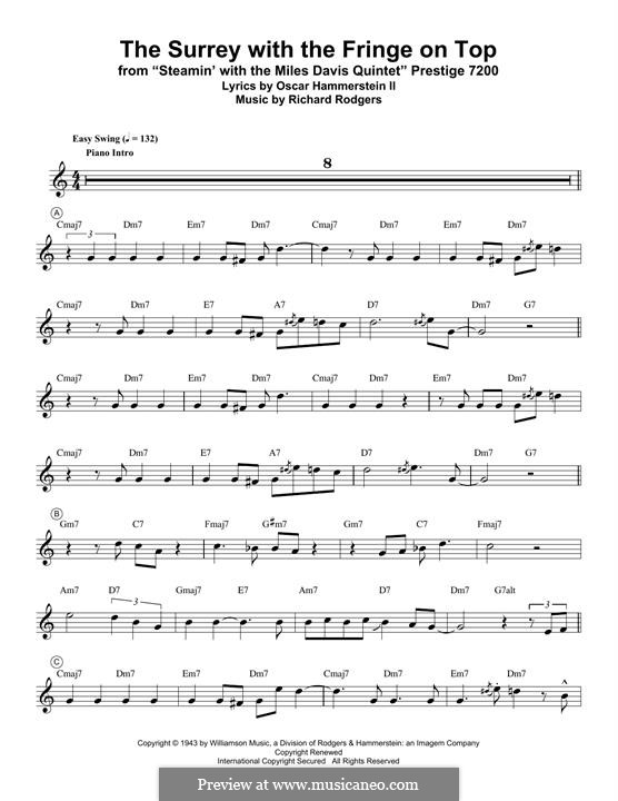The Surrey with the Fringe on Top: For trumpet (Miles Davis) by Richard Rodgers
