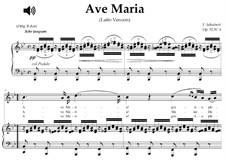 Ave Maria (Piano-vocal score), D.839 Op.52 No.6: For soprano or tenor (B-Flat Major) with piano accompaniment by Franz Schubert