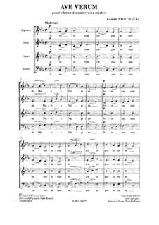 Ave verum in E Flat Major: partituras de vocais by Camille Saint-Saëns