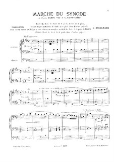 Henry VIII: March of Synode, for Organ by Camille Saint-Saëns