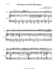 Variations on Hari Bouriquet: para viola e piano by Claudin de Sermisy
