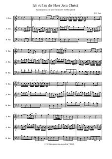 Ich ruf' zu dir, Herr Jesu Christ (I Call on Thee, Lord), BWV 639: For trio instruments by Johann Sebastian Bach