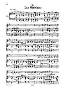 No.21 Das Wirtshaus (The Inn): Para vocais e piano by Franz Schubert
