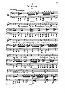 No.8 Der Atlas (Atlas): Para vocais e piano by Franz Schubert
