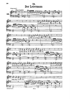 No.24 Der Leiermann (The Organ Grinder): Para vocais e piano by Franz Schubert